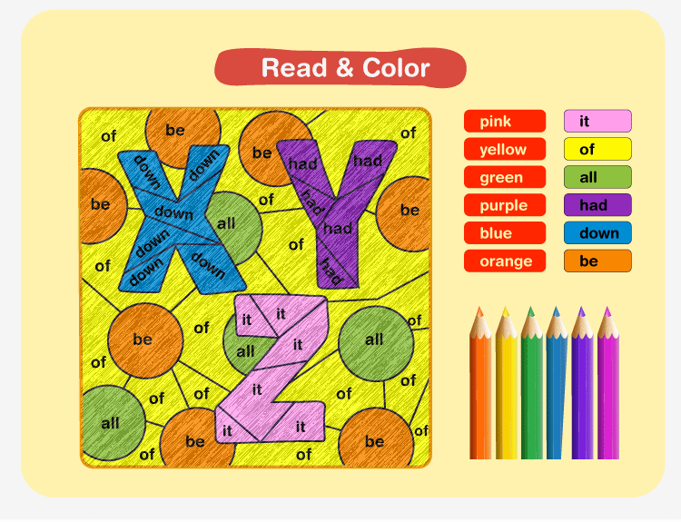 Color by Sight Word A1