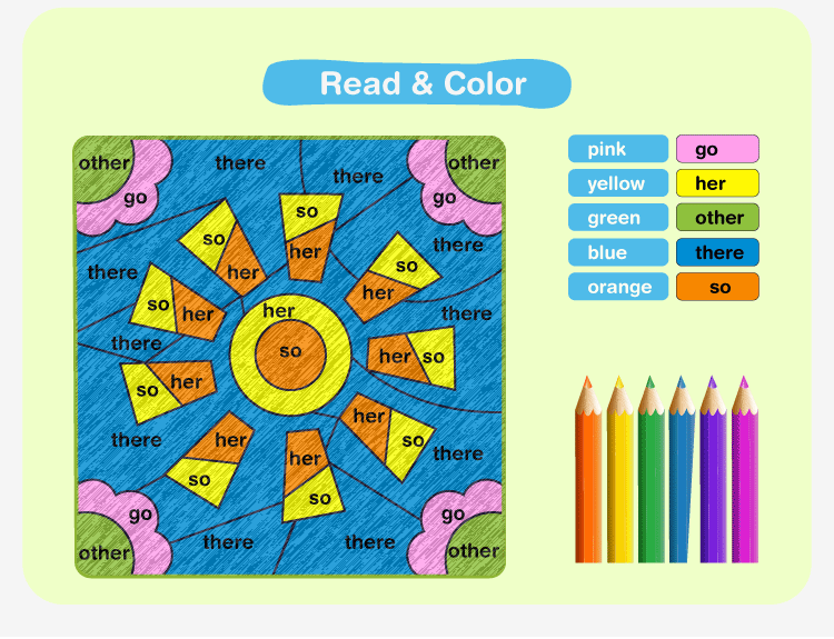 Color by Sight Word A2