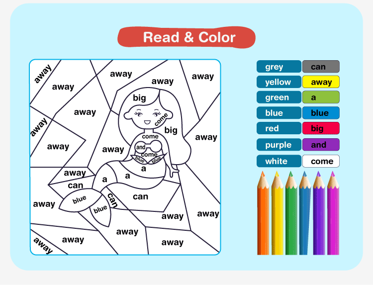 Color by Sight Word Q3