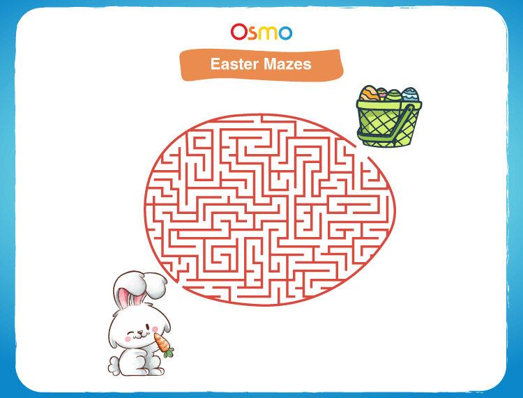 Solve the Easter maze: Easter egg puzzles for kids