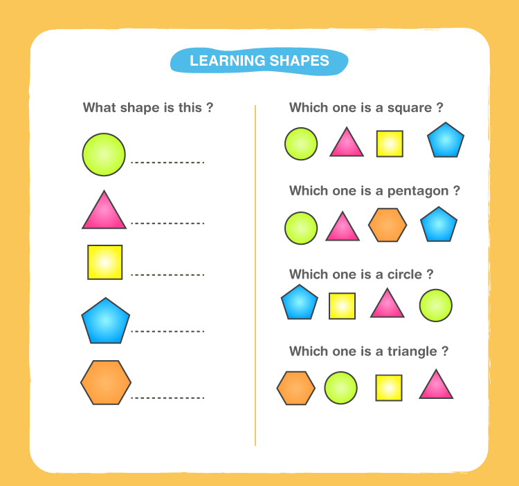 Preschool Shapes Worksheets 1