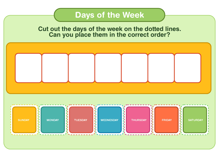 days of the week printables 3