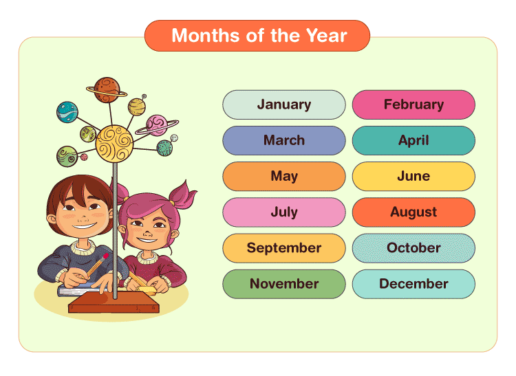 month of the year printables