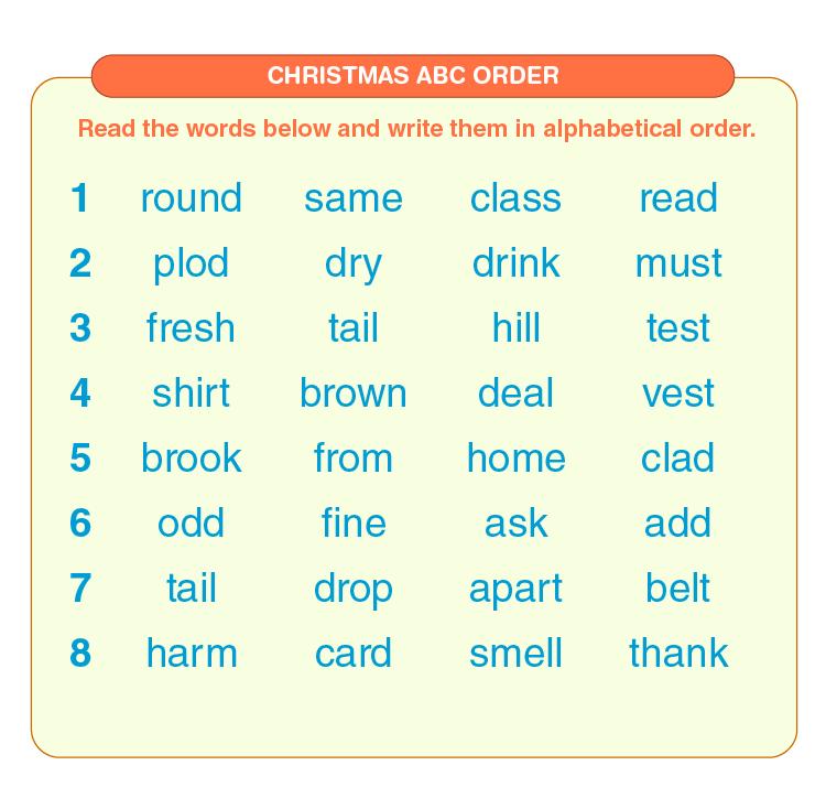 Alphabetical Order Worksheets 01 1