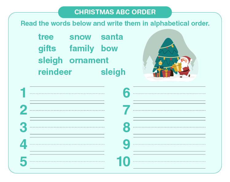 Alphabetical Order Worksheets 02
