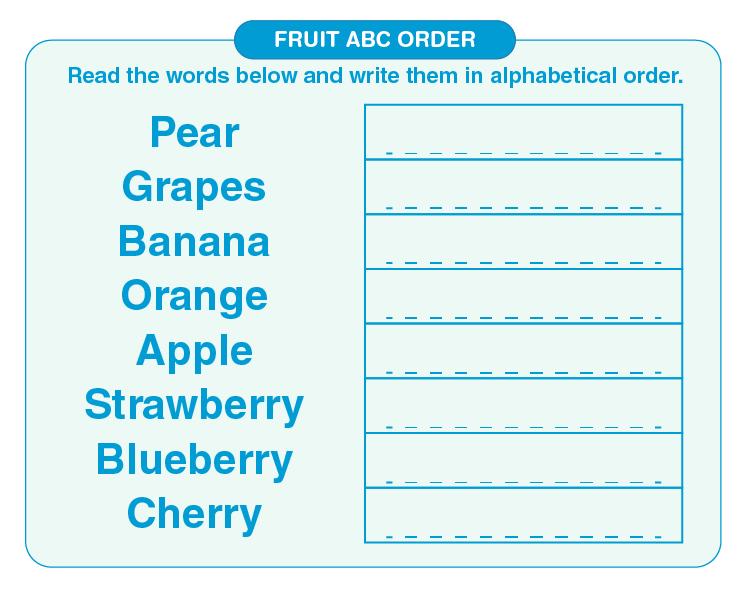 Alphabetical Order Worksheets 04