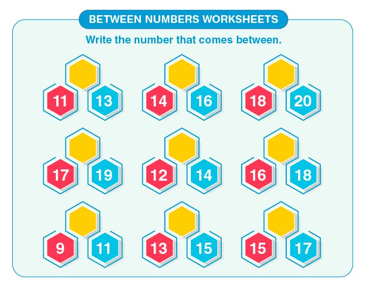 Between Numbers Worksheets 04