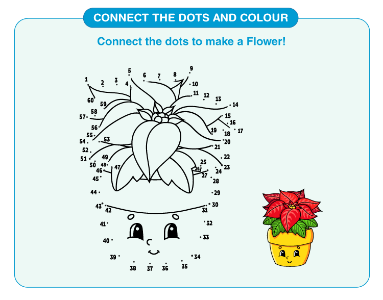 Connect the Dots Worksheets flower