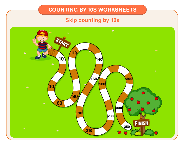 Skip the counting by 10s printables for kids: Free St. Patrick's day Worksheets