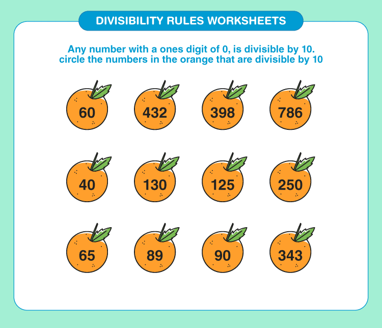 Divisibility rules worksheets 1