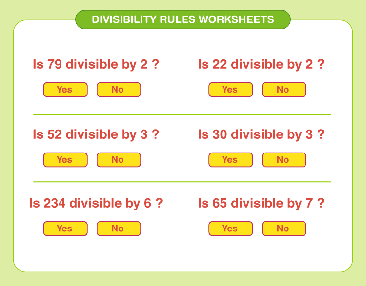 Divisibility rules worksheets 2