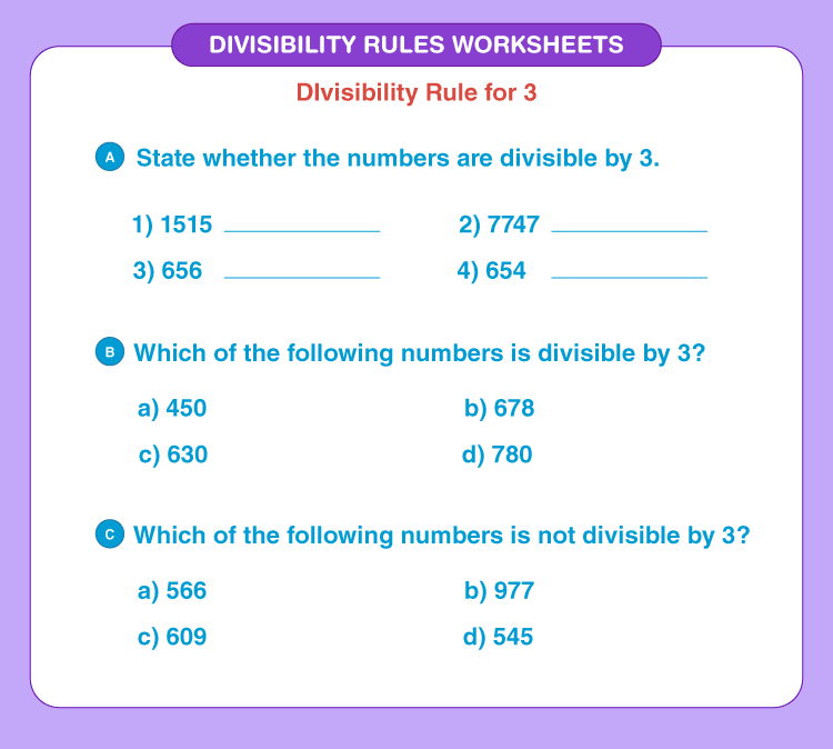 Divisibility rules worksheets 4