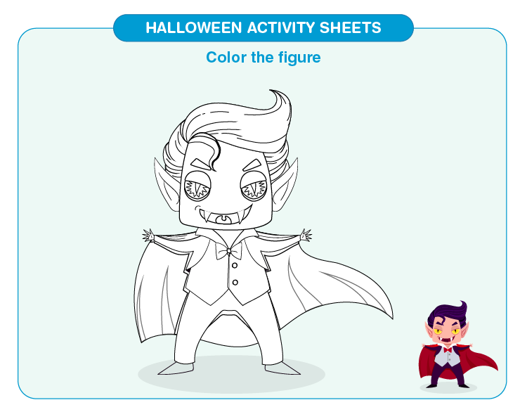 Color the Dragula: Halloween Worksheets for Kids