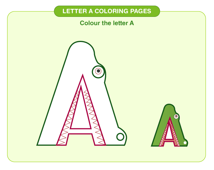 Letter A coloring pages 1