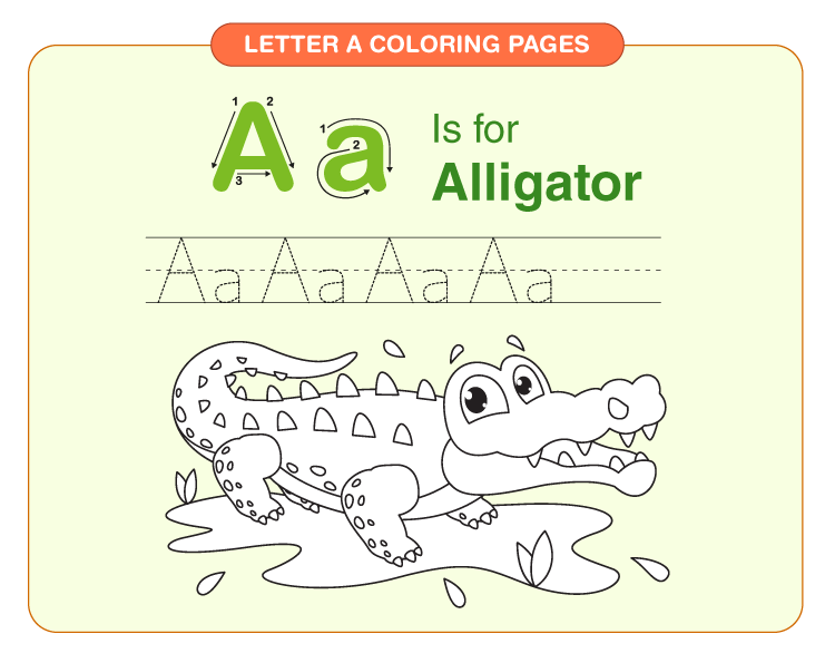 Letter A coloring pages 2