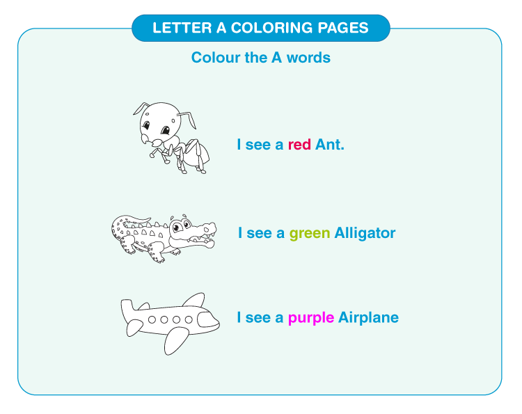 Letter A coloring pages 3