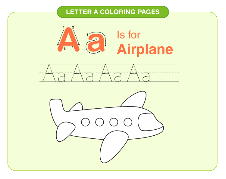 Letter A coloring pages 4