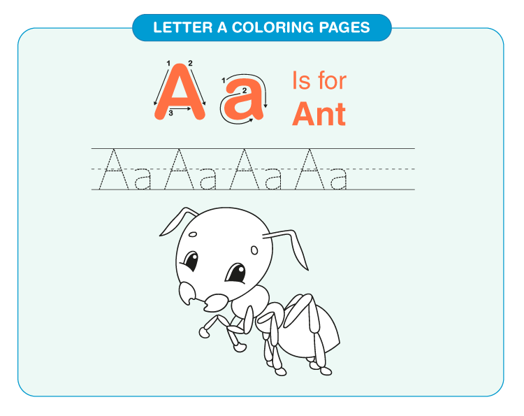 Letter A coloring pages 5