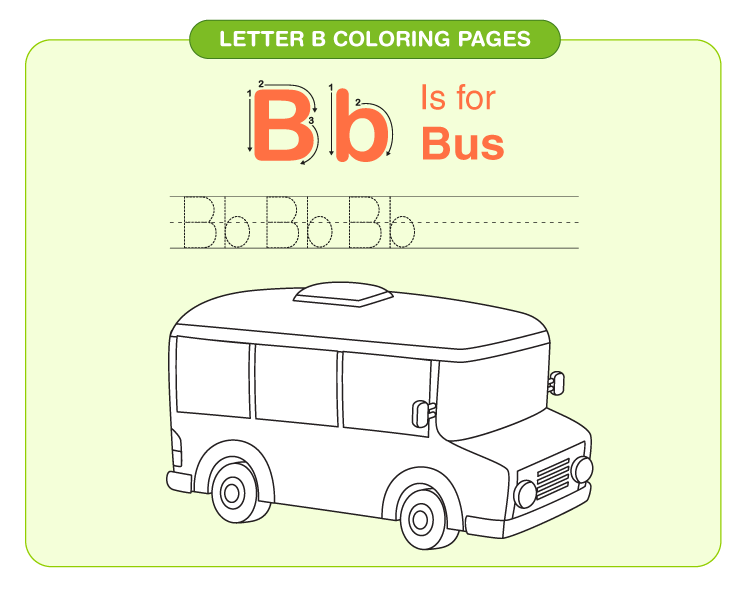 Letter B coloring pages 1