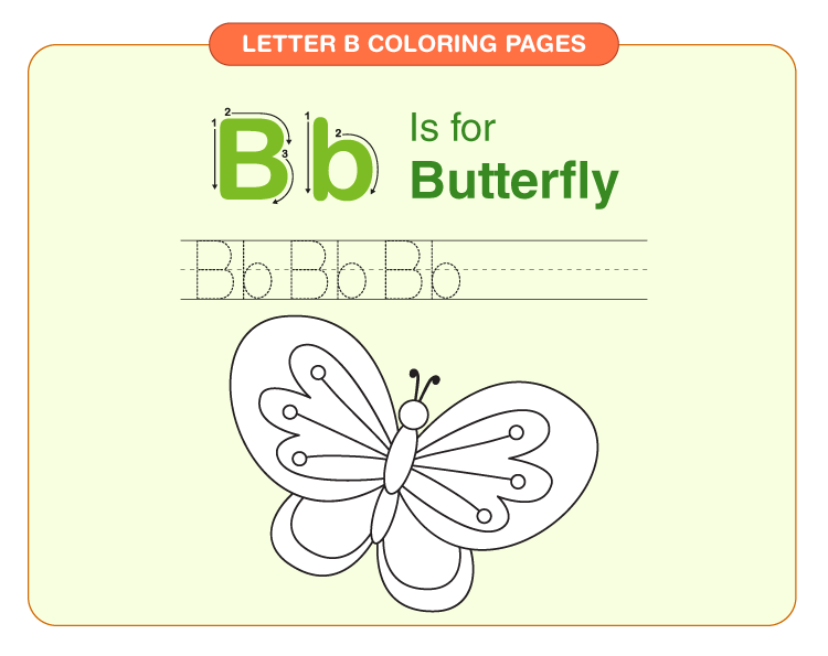 Letter B coloring pages 2