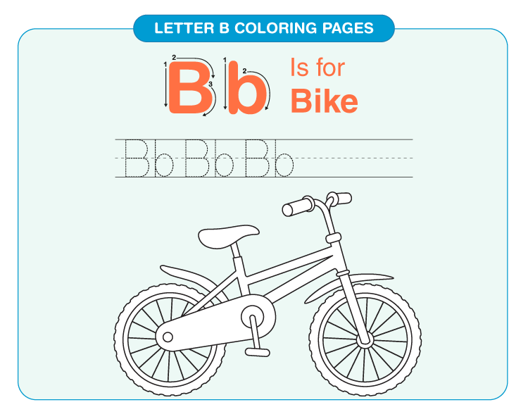 Letter B coloring pages 3