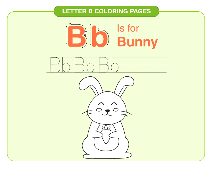 Letter B coloring pages 4