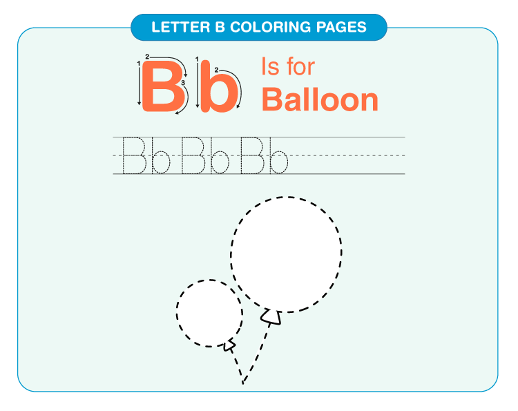 Letter B coloring pages 5