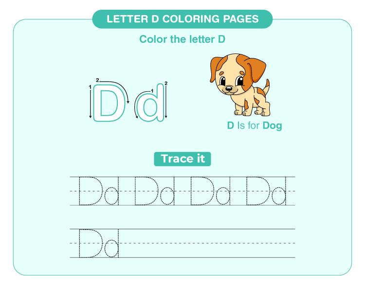 Letter D Coloring Pages 1