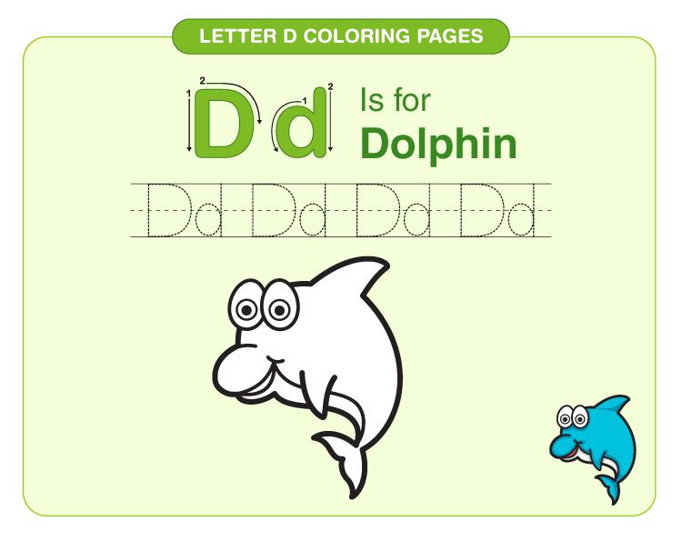 Letter D Coloring Pages 2