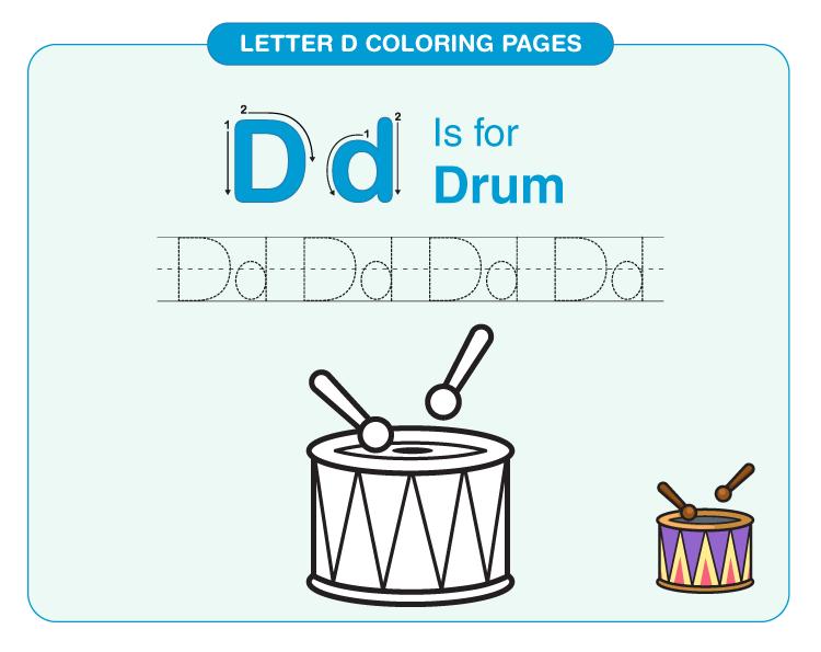 Letter D Coloring Pages 3