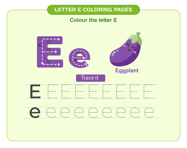 Letter E Coloring Pages 1