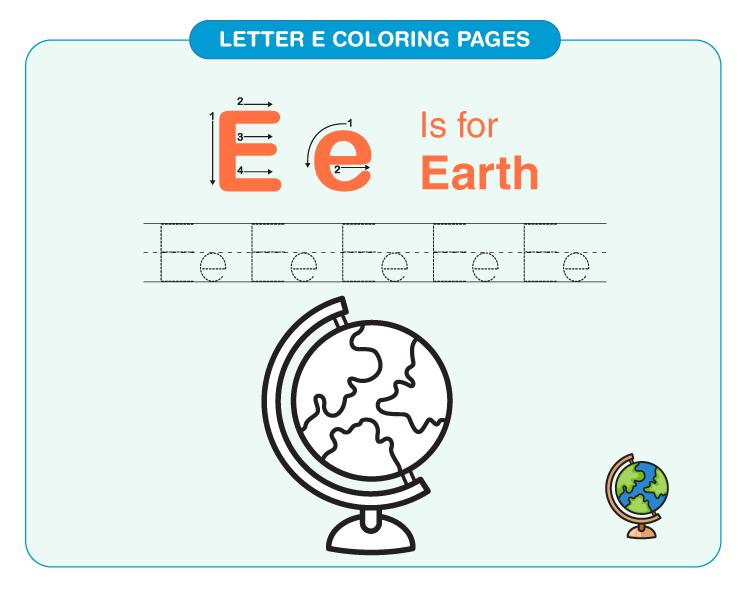 Letter E Coloring Pages 3
