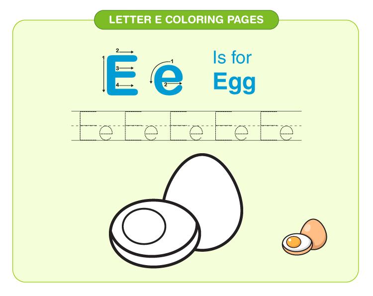 Letter E Coloring Pages 4