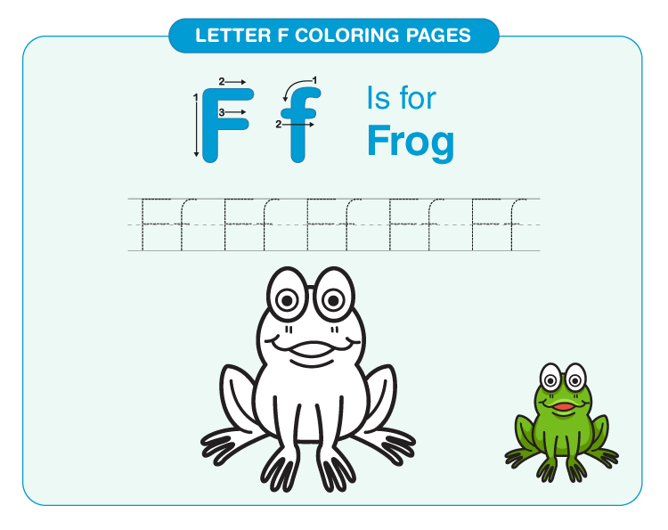 Letter F Coloring Pages 3