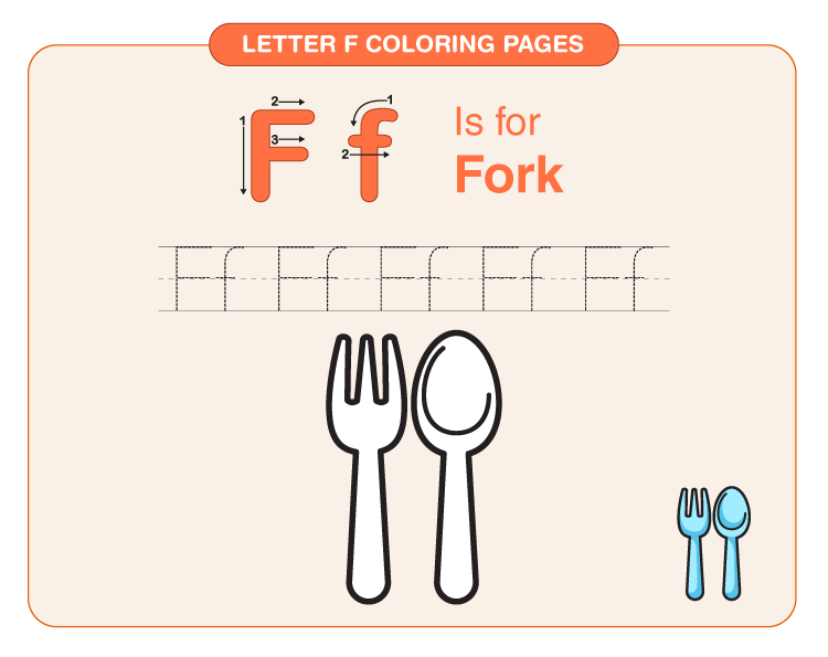 Letter F Coloring Pages 4