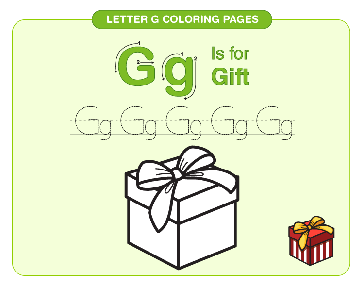 Letter G Coloring Pages 2