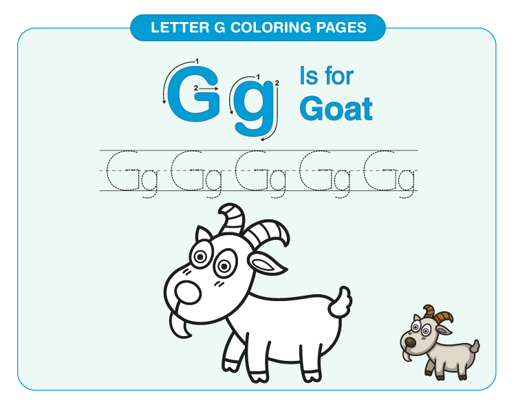 Letter G Coloring Pages 3