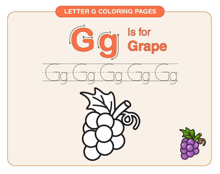 Letter G Coloring Pages 4