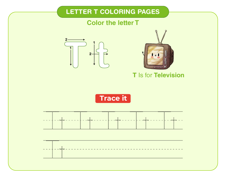 Letter T Coloring Pages 1