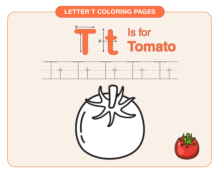 Letter T Coloring Pages 2