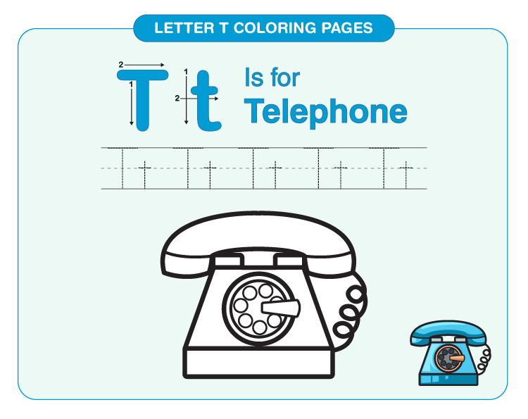 Letter T Coloring Pages 3