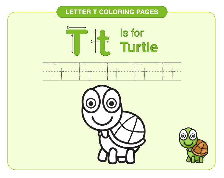 Letter T Coloring Pages 4