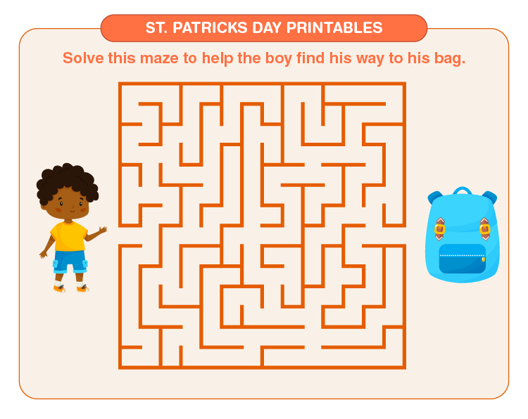 Solving the maze: Free St. Patrick's Day Printables for Kids