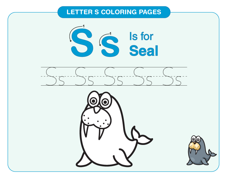letter S coloring page 4