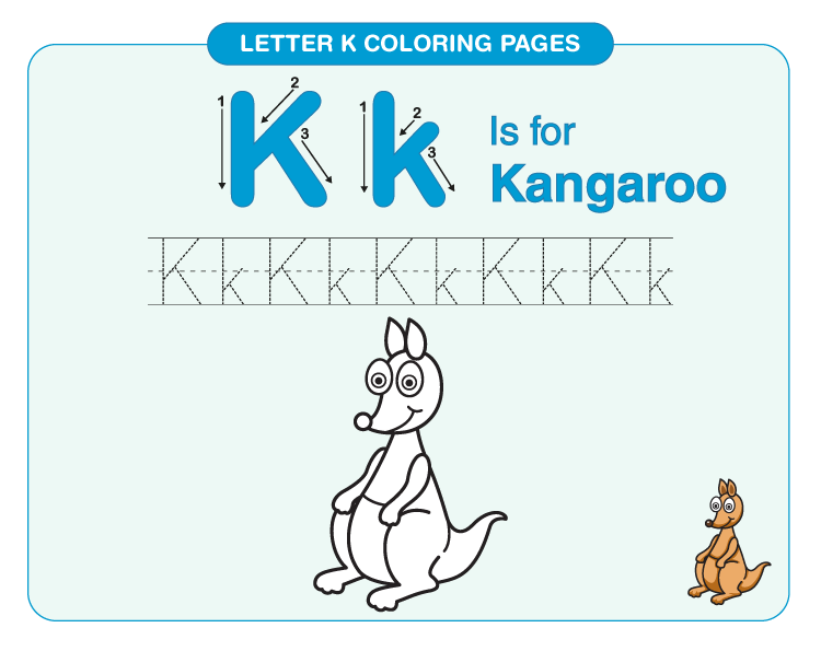 letter k coloring page 4