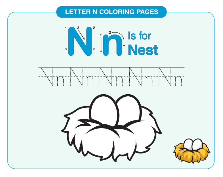 letter n coloring page 4