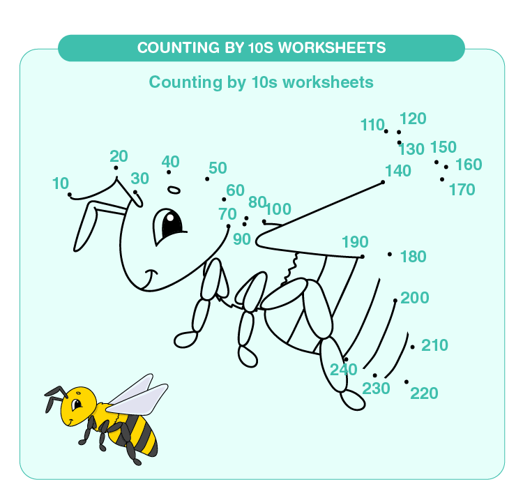 Counting by 10s worksheets 01