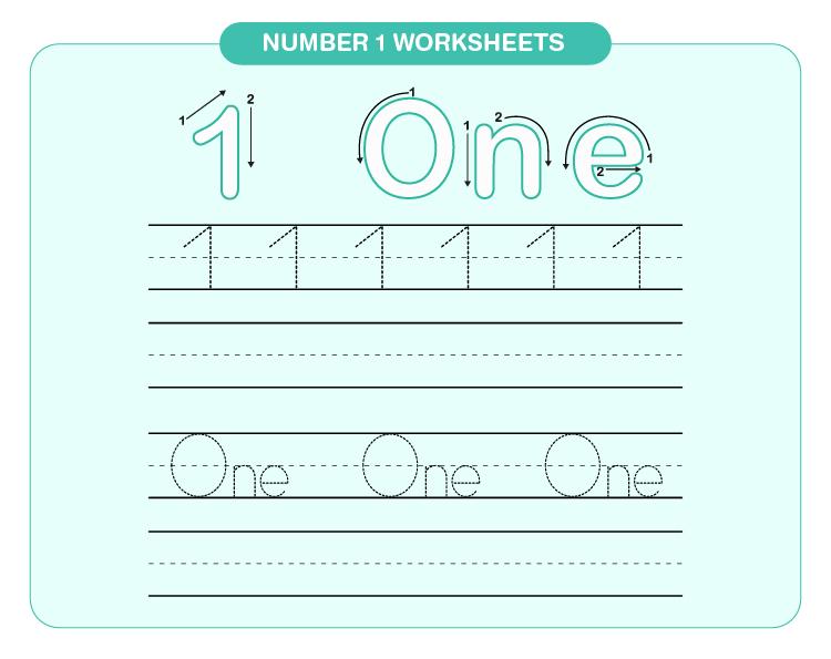 Number 1 worksheets 01