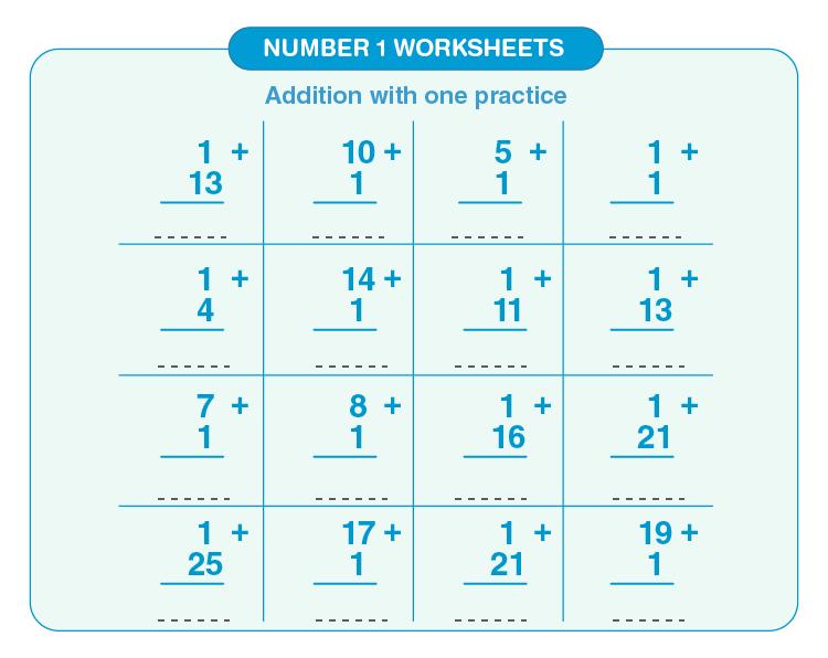 Number 1 worksheets 03