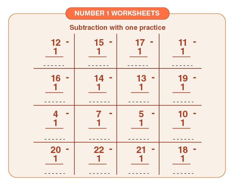 Number 1 worksheets 04